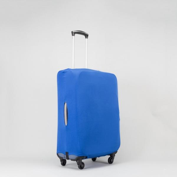"Чехол для чемодана «Одноцвет», 20"", цвет синий"