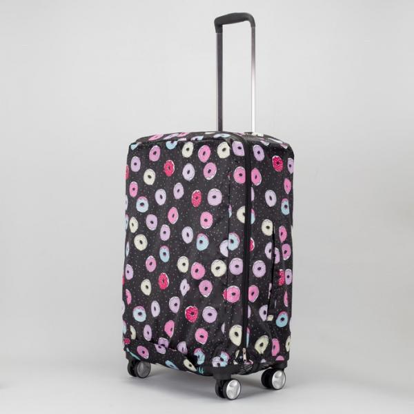 Чехол для чемодана, расширение по периметру, цвет чёрный
