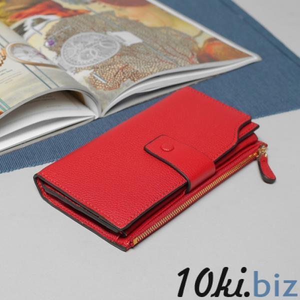 Кошелёк женский, 3 отдела, для карт, для монет, наружный карман, цвет бордовый купить в Беларуси - Женские кошельки