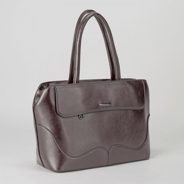 Сумка женская, отдел с перегородкой на молнии, 2 наружных кармана, цвет коричневый