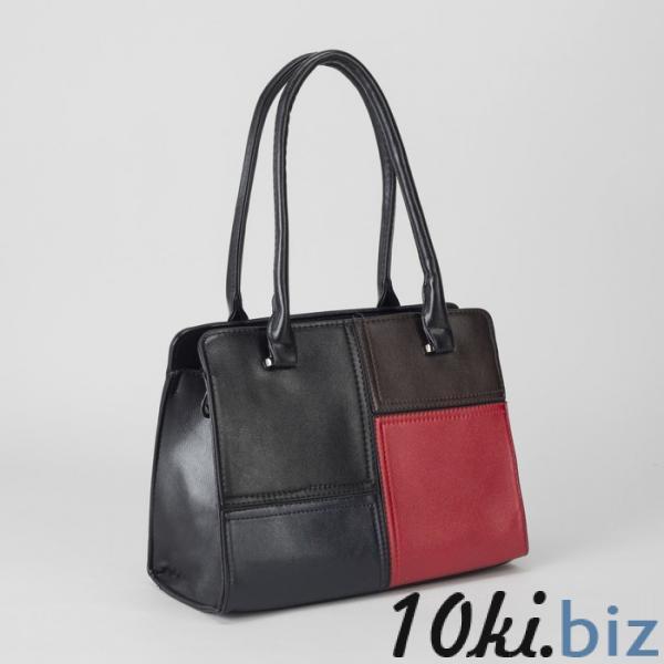 Сумка женская, отдел с перегородкой на молнии, наружный карман, цвет чёрный купить в Гродно - Женские сумочки и клатчи