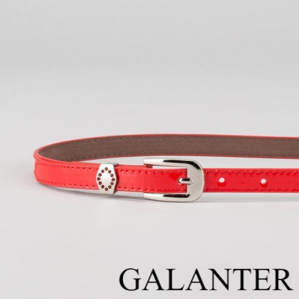 Фото Ремни, Женские ремни Ремень женский, ширина - 1,4 см, пряжка металл, 2 строчки, цвет красный