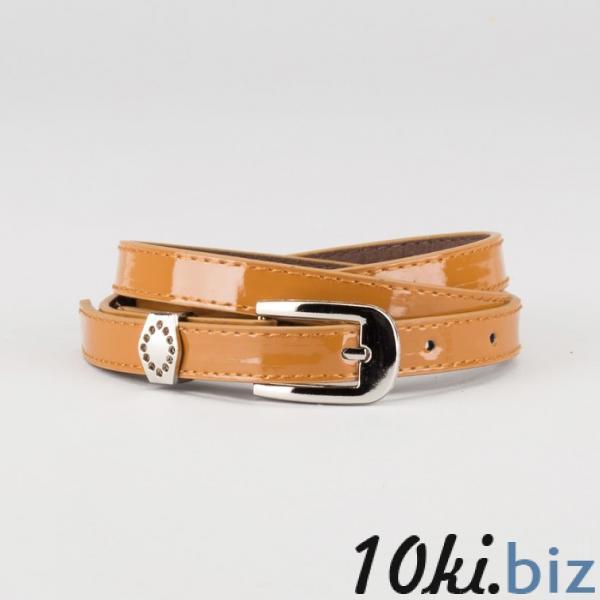 Ремень женский, ширина - 1,4 см, пряжка металл, 2 строчки, цвет коричневый купить в Гродно - Женские ремни