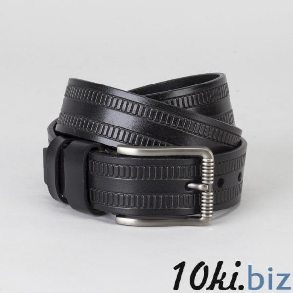 Ремень мужской, винт, пряжка тёмный металл, ширина - 4 см, цвет чёрный купить в Гродно - Ремни и пояса