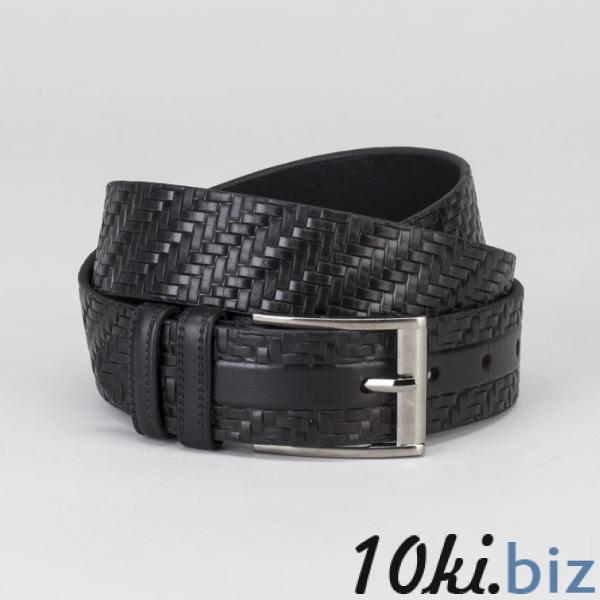 Ремень мужской, винт, пряжка тёмный металл, ширина - 3 см, цвет чёрный купить в Гродно - Ремни и пояса