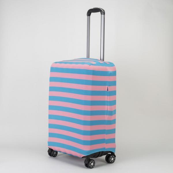 """Чехол для чемодана 24"""", цвет голубой/розовый"""