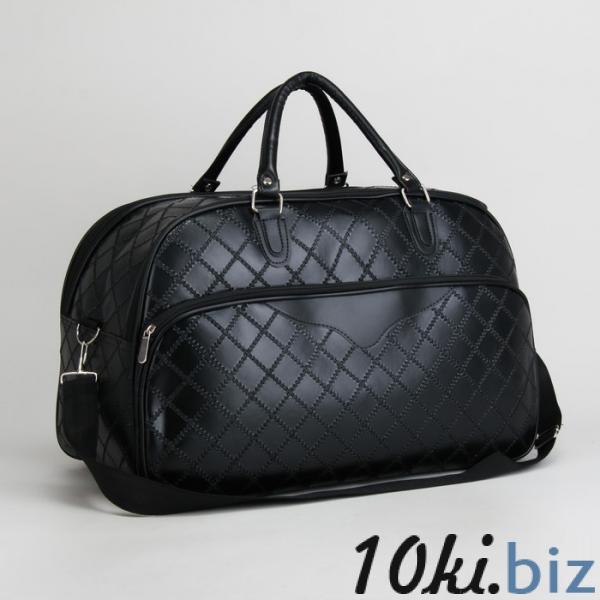 Сумка дорожная, ручная кладь, отдел на молнии, наружный карман, длинный ремень, цвет чёрный купить в Лиде - Дорожные сумки и чемоданы