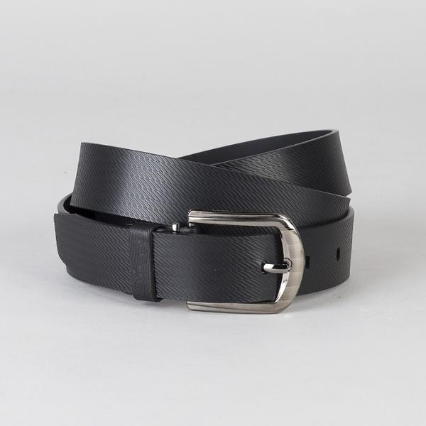Ремень мужской, винт, пряжка под металл, ширина - 3 см, цвет чёрный