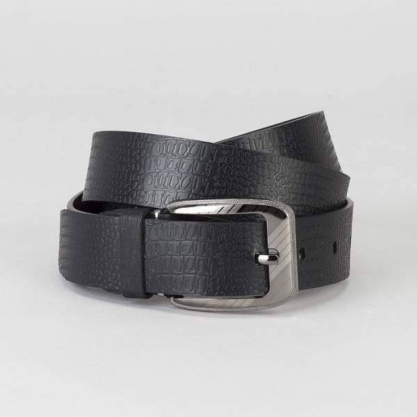 Ремень мужской, винт, пряжка под металл, ширина - 3,5 см, цвет чёрный