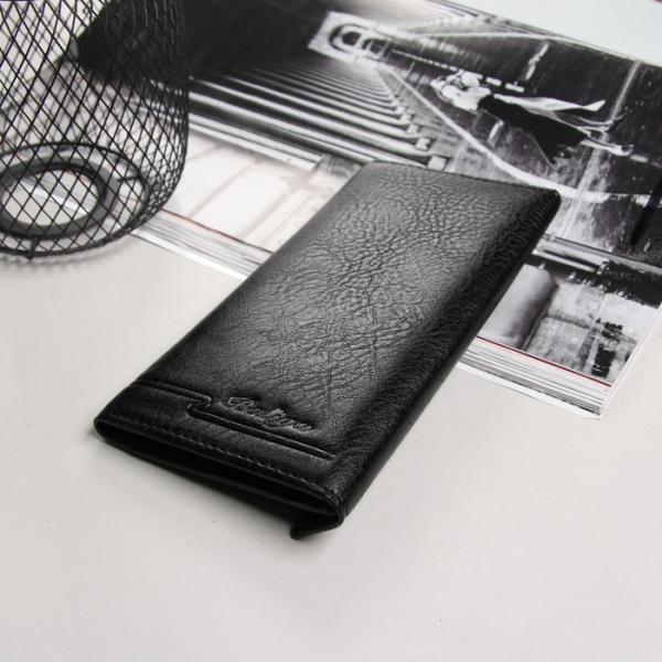 Портмоне мужское, 3 отдела, для карт, на магните, наружный карман, цвет чёрный