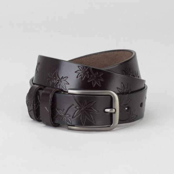 Ремень женский, пряжка тёмный металл, ширина - 2,5 см, цвет кофе