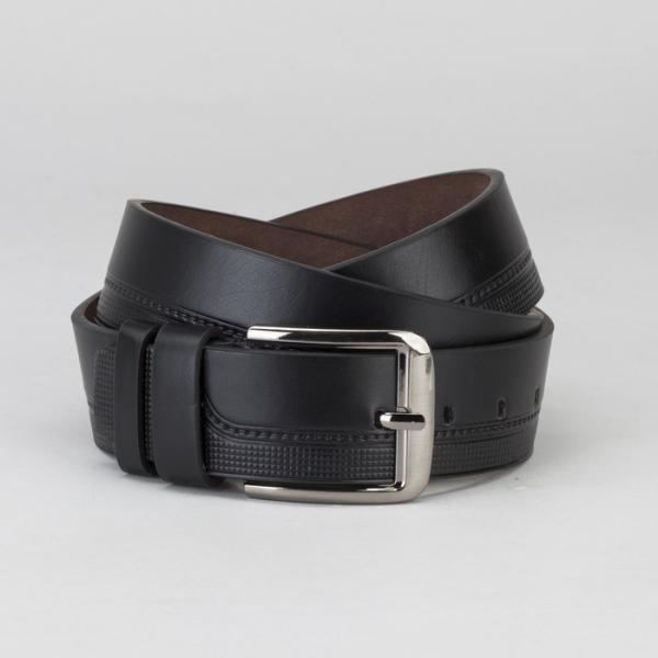 Ремень мужской Великан, гладкий, пряжка металл, ширина - 4,5 см, цвет чёрный