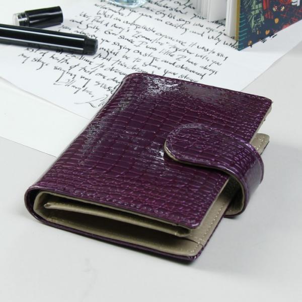 Кошелёк женский, 2 отдела, для карт, для монет, цвет фиолетовый