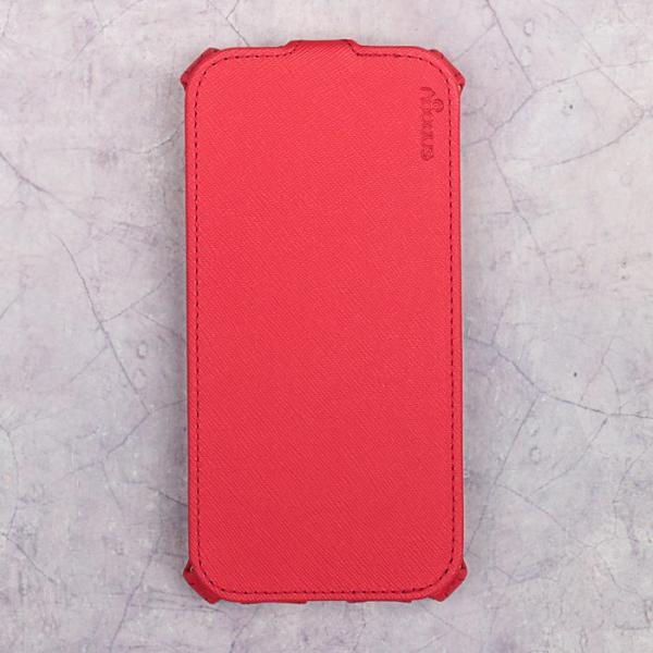 Чехол-флип Snoogy для Samsung A7 (2017), иск. кожа, Красный