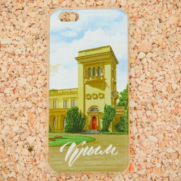 Чехол для iPhone 6 телефона «Крым» (Ливадийский дворец), 7 х 14 см