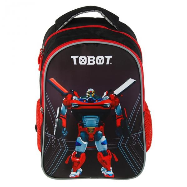 Рюкзак школьный Superlight Tobot для мальчика, облегчённый, чёрный
