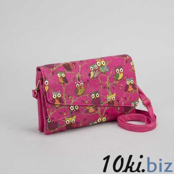 Клатч женский, 3 отдела на молнии, длинный ремень, цвет розовый купить в Лиде - Женские сумочки и клатчи