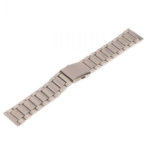 Ремешок для часов 24 мм, металл, серебряный, 22.5 см
