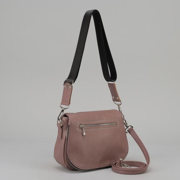 Сумка женская, отдел на молнии, наружный карман, регулируемый ремень, цвет лавандовый