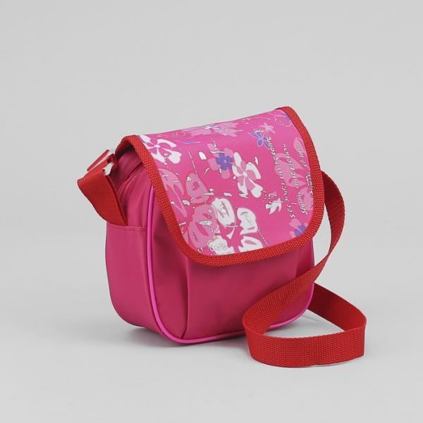 Сумка детская, отдел на молнии, регулируемый ремень, цвет розовый
