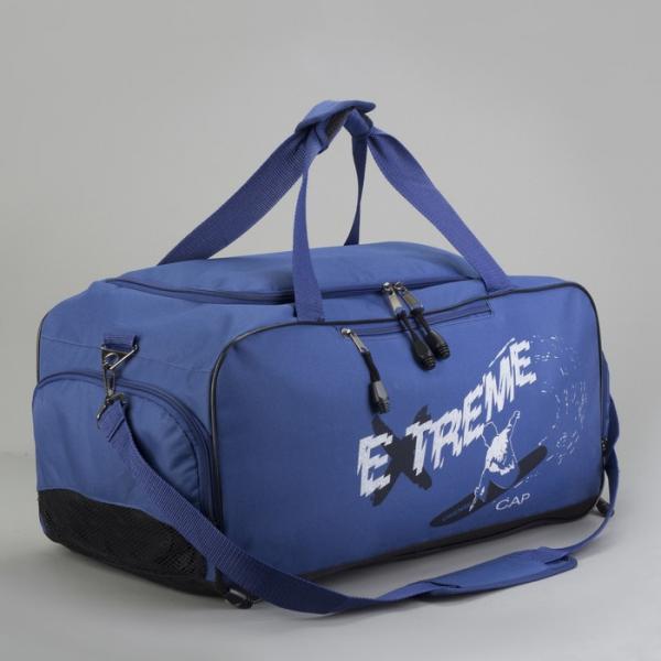 Сумка спортивная, отдел на молнии, наружный карман, отдел для обуви, цвет синий