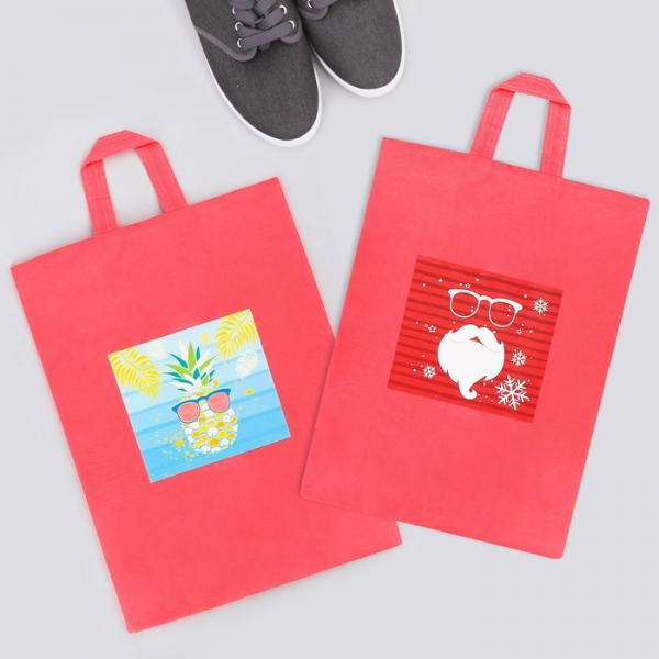 "Набор мешков для обуви с ручкой ""Дед Мороз. Ананас"", 2 шт., 35 х 25,5 см"