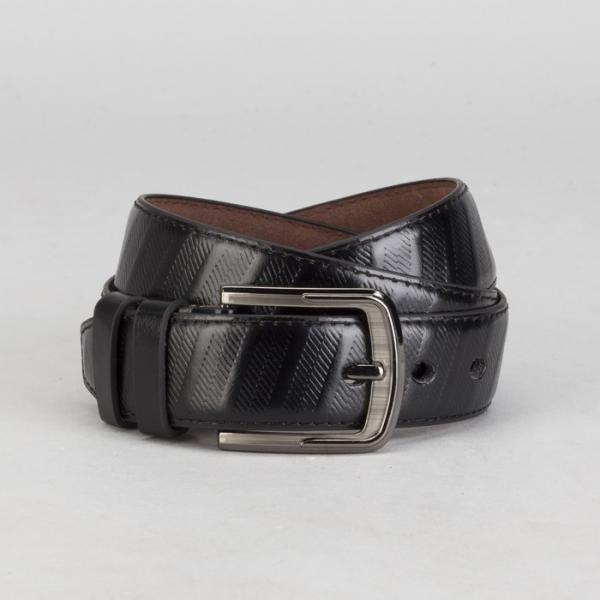 Ремень мужской, винт, пряжка под тёмный металл, ширина - 4 см, цвет чёрный