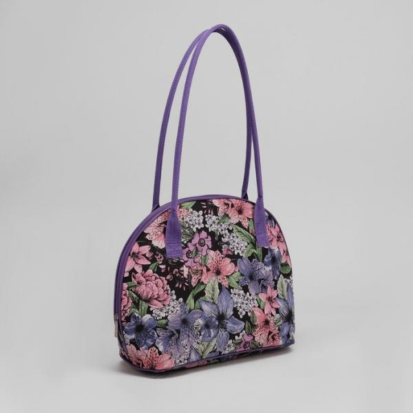 Сумка женская, отдел на молнии, наружный карман, цвет фиолетовый/разноцветный