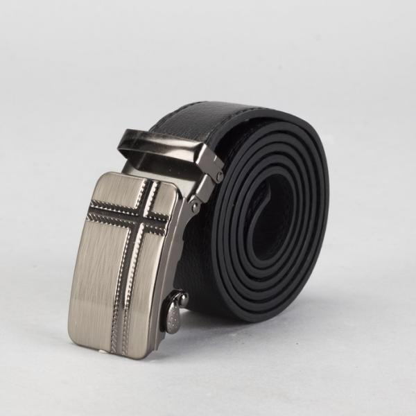 Ремень мужской, винт, пряжка автомат под тёмный металл, ширина - 3,5 см,