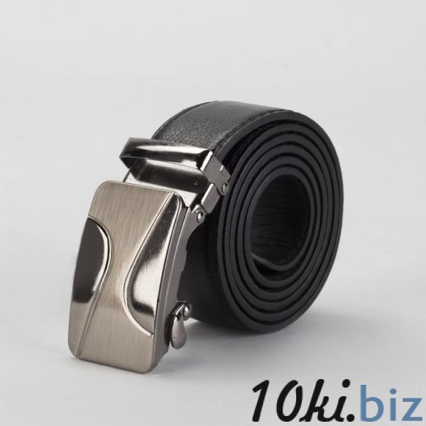 Ремень мужской, винт, пряжка автомат под тёмный металл, ширина - 3,5 см, цвет чёрный гладкий купить в Гродно - Ремни и пояса