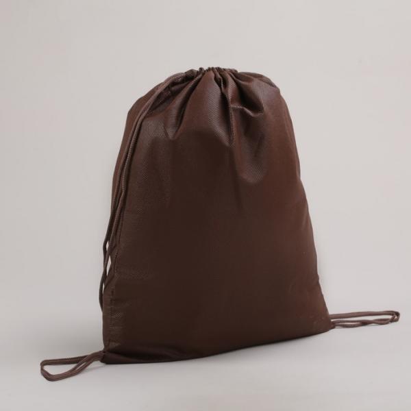 Мешок для обуви, отдел на шнурке, цвет коричневый
