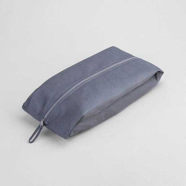 Сумка для обуви, 1 отдел на молнии, цвет серый