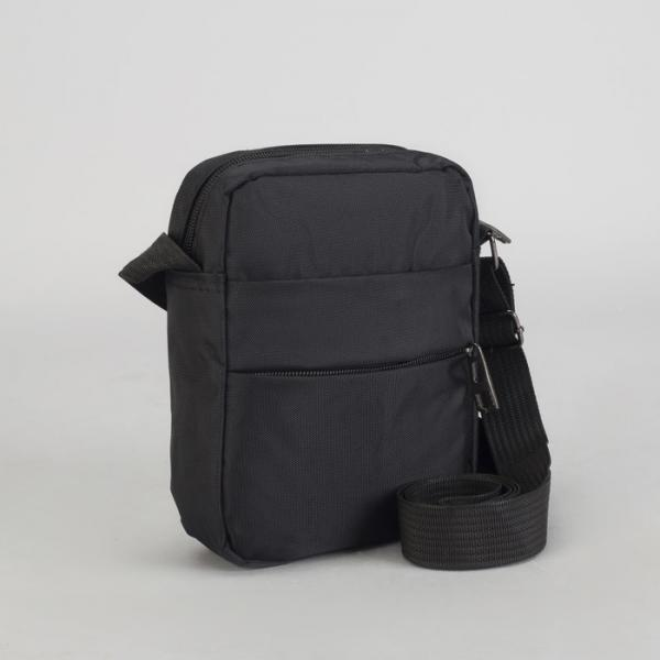 Планшет мужской, отдел на молнии, наружный карман, регулируемый ремень, цвет чёрный