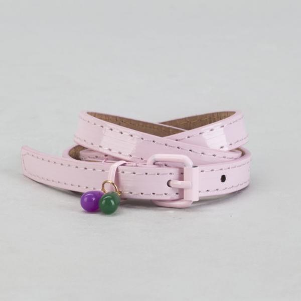 Ремень детский, гладкий, ширина - 1,5 см, пряжка хомут металл, цвет розовый