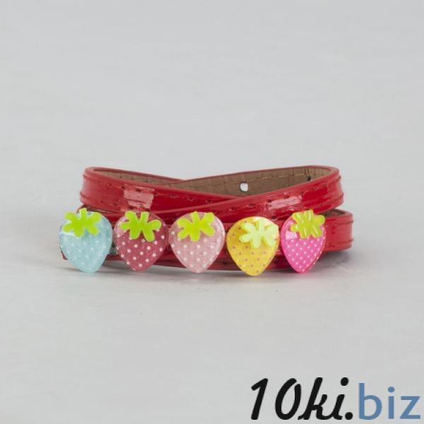 Ремень детский, гладкий, ширина - 1,3 см, пряжка металл, цвет красный купить в Лиде - Ремни и подтяжки детские для девочек