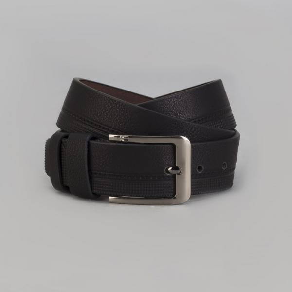 Ремень мужской, винт, пряжка металл, ширина - 4 см, цвет чёрный
