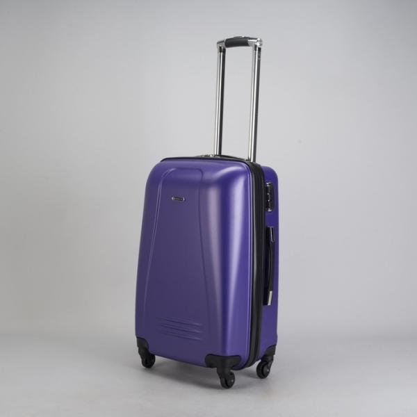 """Чемодан малый 22"""", отдел на молнии, кодовый замок, 4 колеса, цвет фиолетовый"""