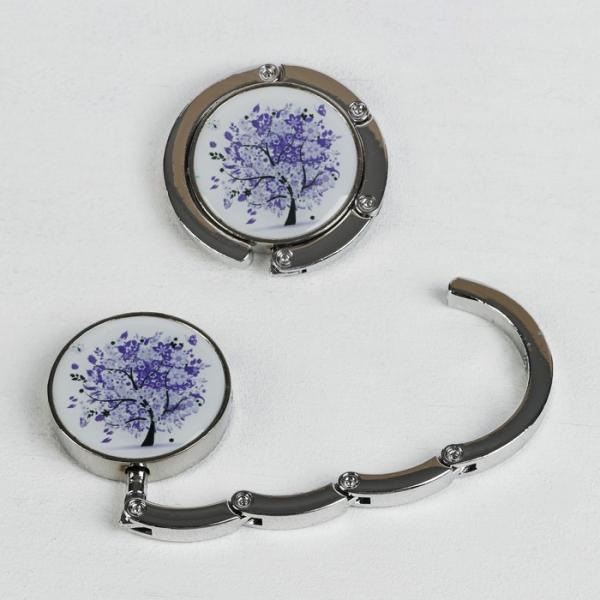 Крючок для сумки и зонта «Дерево», d = 4,5 см, цвет фиолетовый