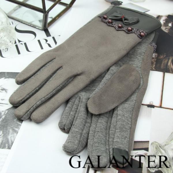 Фото Перчатки Перчатки женские безразмерные, без подклада, для сенсорных экранов, цвет серый