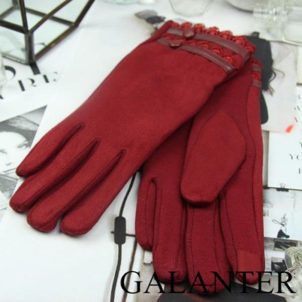 Фото Перчатки, Женские перчатки Перчатки женские безразмерные, без подклада, для сенсорных экранов, цвет бордовый