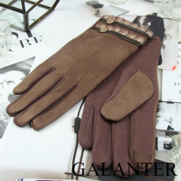 Фото Перчатки Перчатки женские безразмерные, без подклада, для сенсорных экранов, цвет кофе