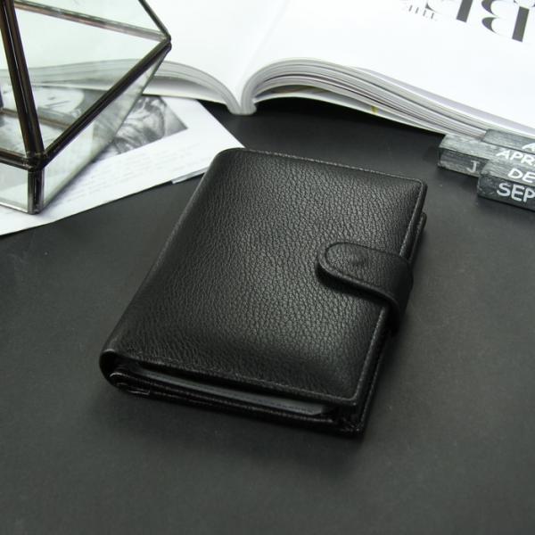 Портмоне мужское 3 в 1 для автодокументов и паспорта, 2 отдела, для карт, для монет, цвет чёрный