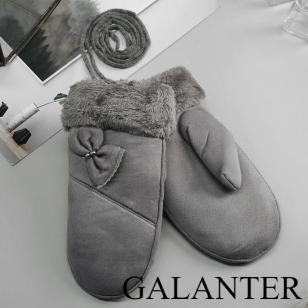 Фото Перчатки, Молодёжные перчатки Варежки женские безразмерные, подклад искусственный мех, цвет серый