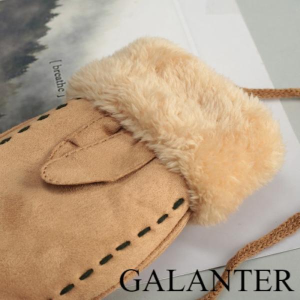 Фото Перчатки, Молодёжные перчатки Варежки женские безразмерные, подклад искусственный мех, цвет бежевый