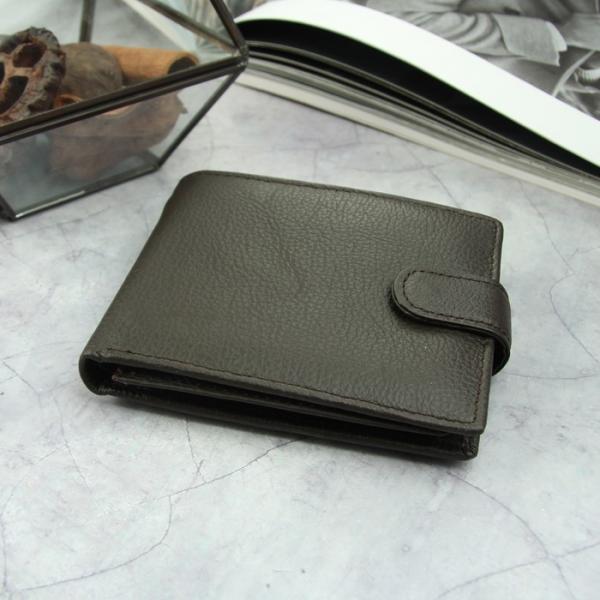 Портмоне мужское, отдел для удостоверений/пропусков, 2 отдела, для карт, для монет, цвет коричневый