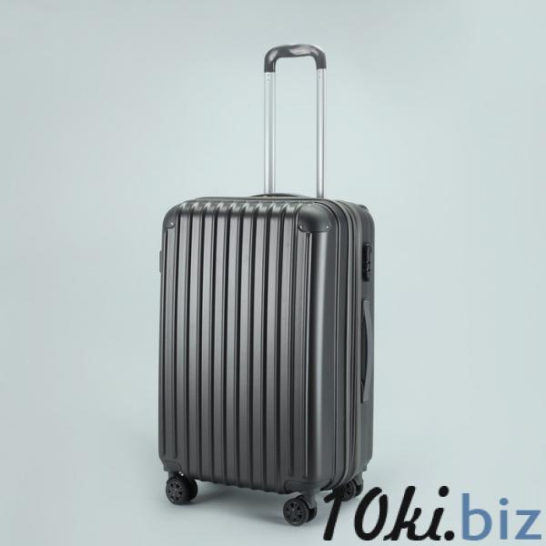 """Чемодан средний 24"""", отдел на молнии, с расширением, кодовый замок, 4 колеса, цвет тёмно-серый купить в Беларуси - Дорожные сумки и чемоданы"""