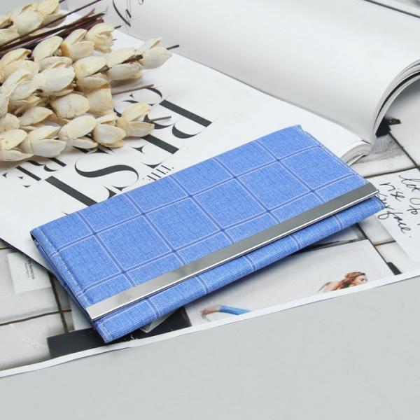 Кошелёк женский, 3 отдела, для карт, цвет голубой