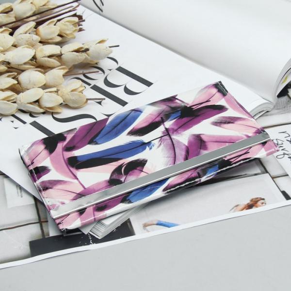 Кошелёк женский, 3 отдела, для карт, цвет фиолетовый
