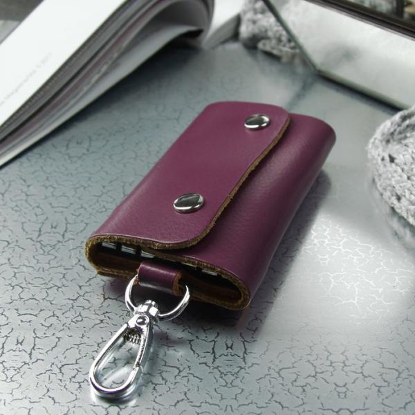 Ключница, 7 карабинов, цвет фиолетовый