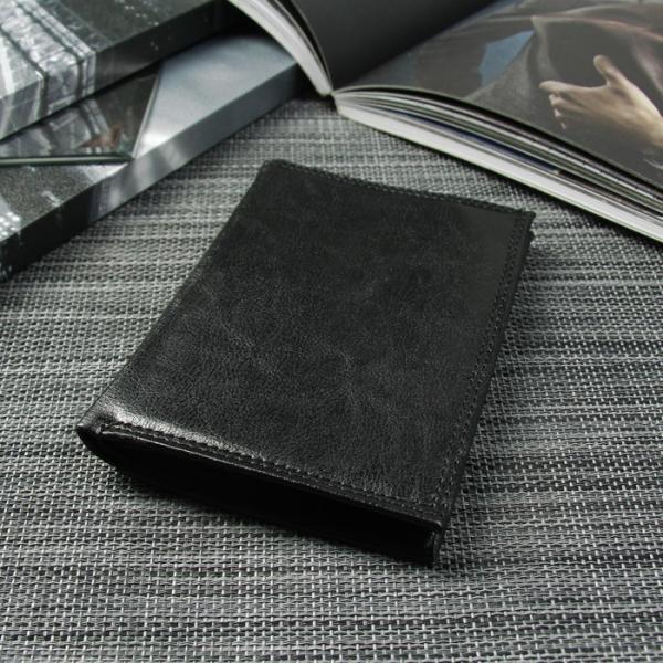 Портмоне мужское 3 в 1 (авто+паспорт), 4 отдела, для карт, для монет, цвет чёрный